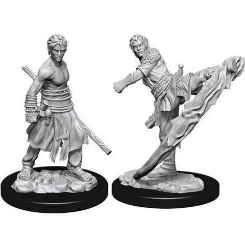 DUNGEONS & DRAGONS NOLZUR'S MARVELOUS UNPAINTED MINIATURES WAVE 10: MALE HALF-ELF MONK