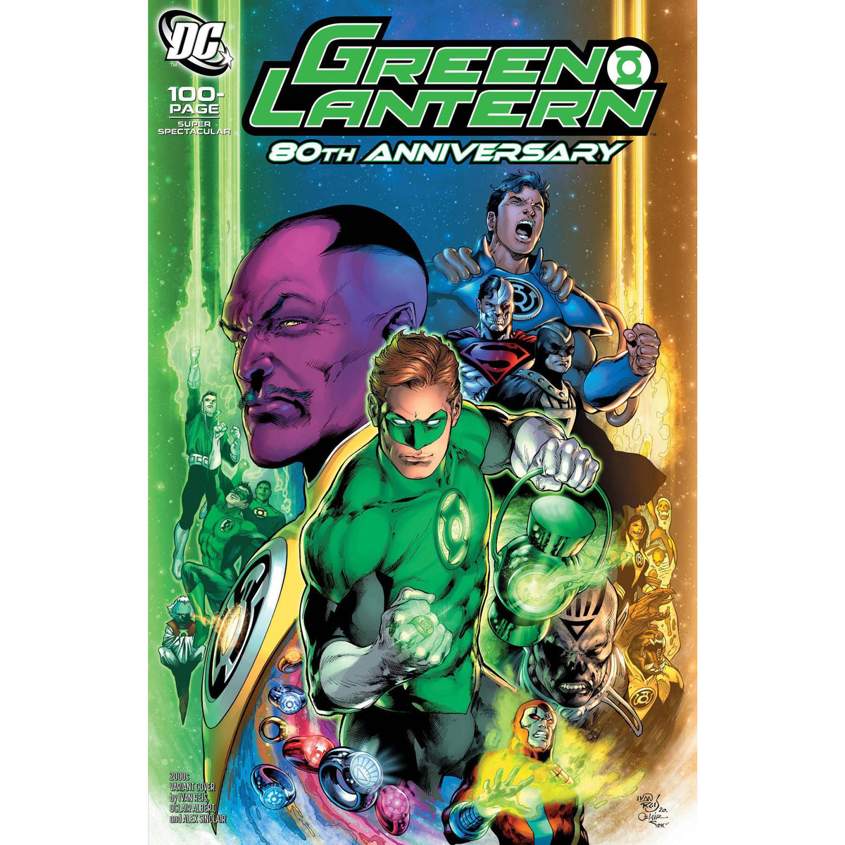 GREEN LANTERN 80TH ANNIVERSARY 100 PAGE SUPER SPECTACULAR #1 - 2000S REIS COVER H - DC COMICS