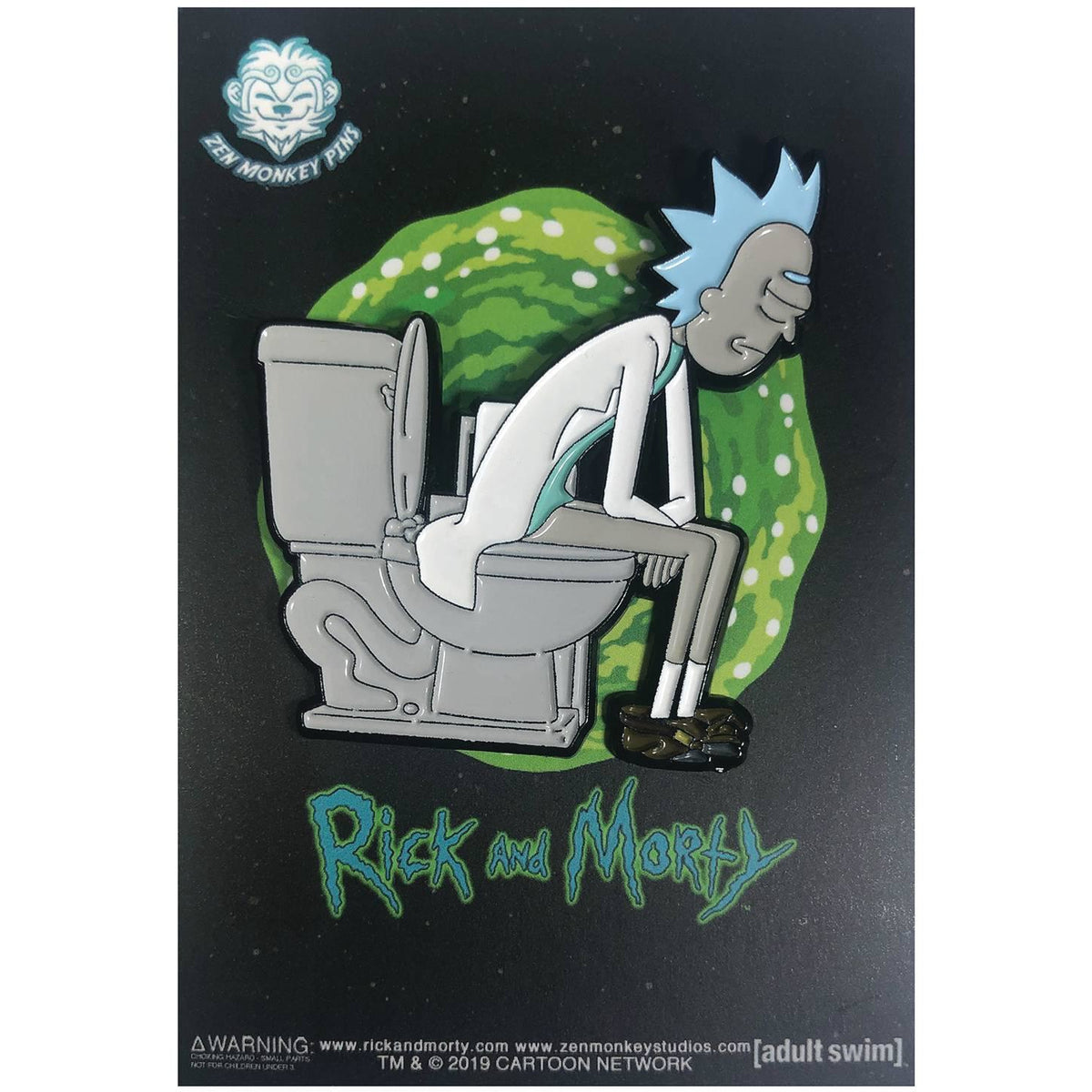 RICK AND MORTY RICK ON THRONE PIN
