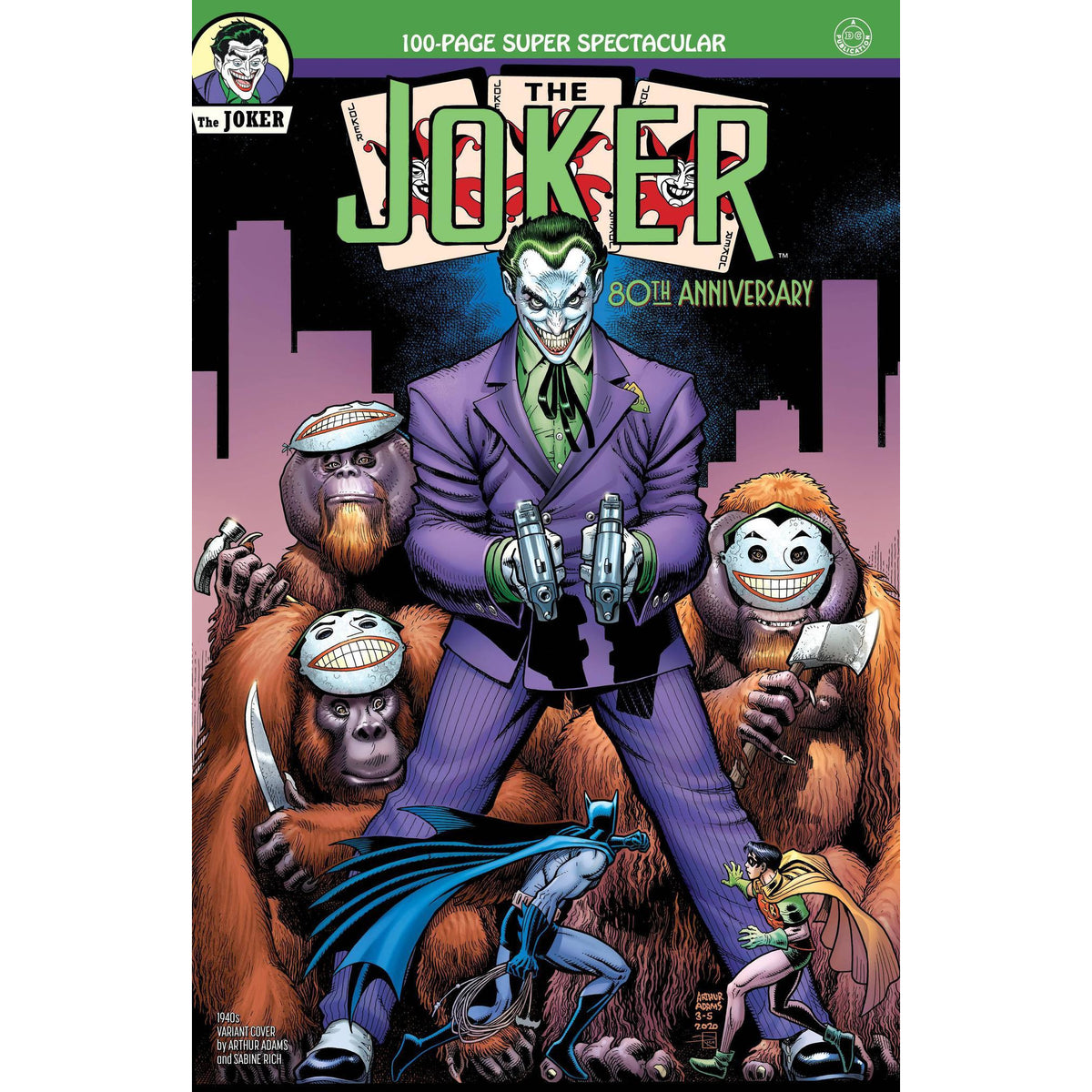 JOKER 80TH ANNIVERSARY 100 PAGE SUPER SPECTACULAR #1 1940s ARTHUR ADAMS VARIANT COVER