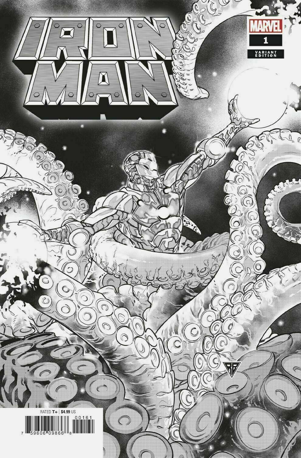 IRON MAN #1 SILVA LAUNCH SKETCH VARIANT