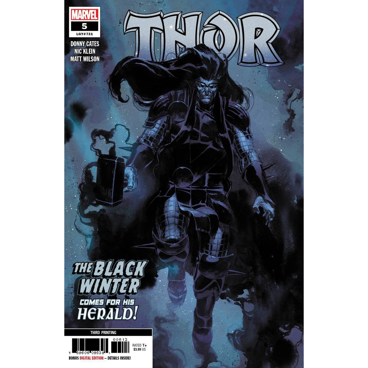 THOR #5 3RD PRINTING KLEIN VARIANT COVER