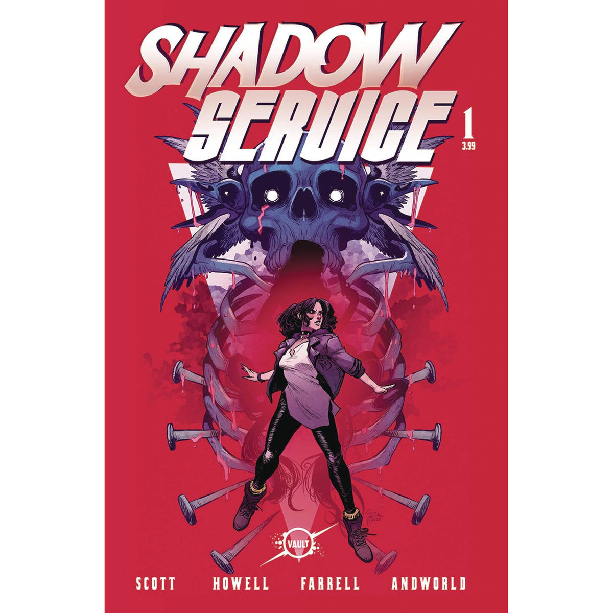 SHADOW SERVICE #1 COVER A HOWELL & FARRELL