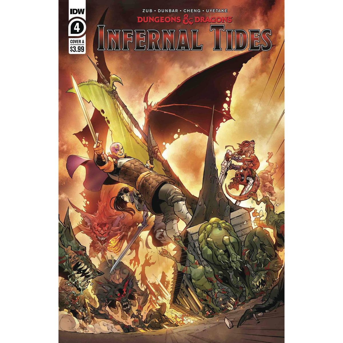 DUNGEONS & DRAGONS INFERNAL TIDES #4 (OF 5) - DUNBAR COVER A