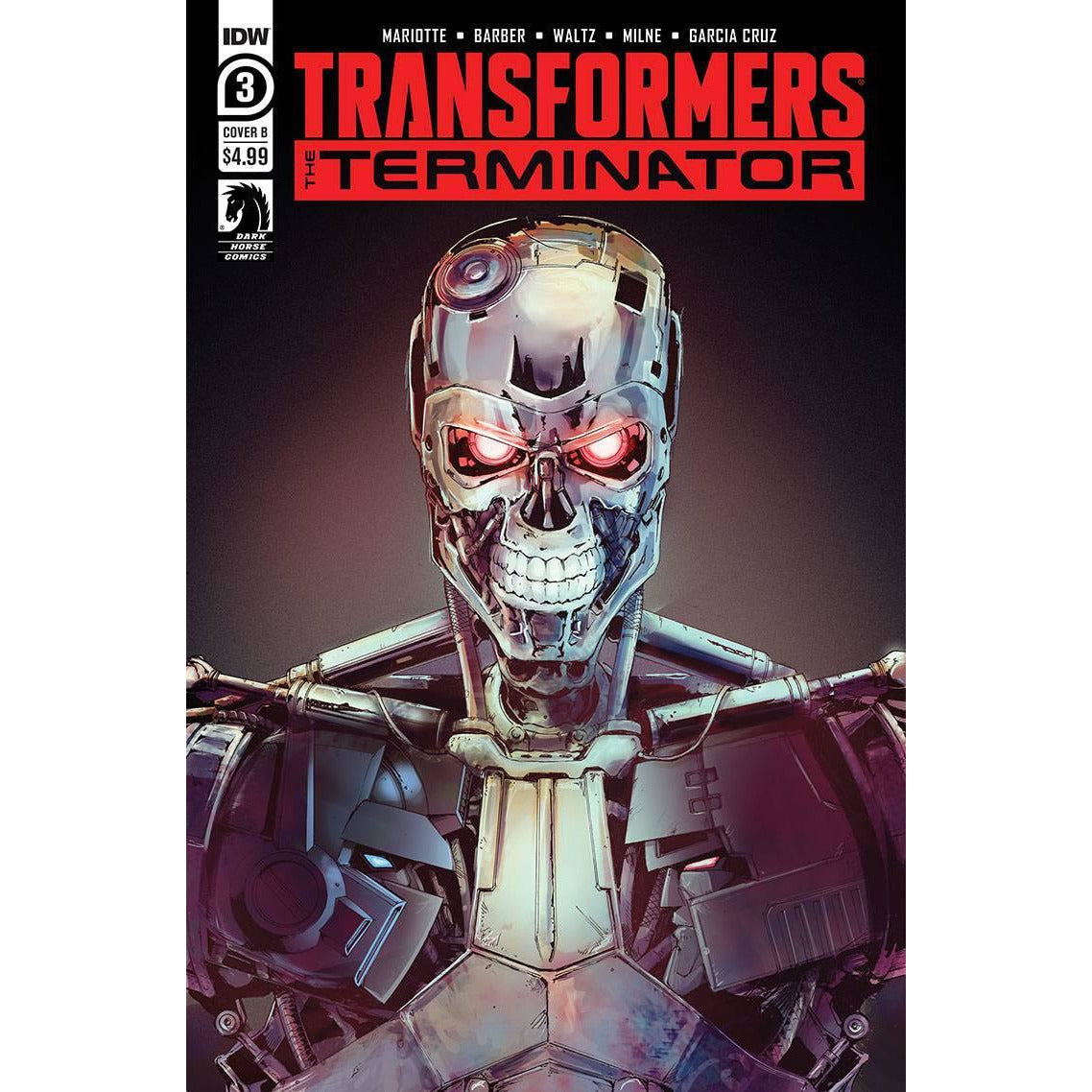 TRANSFORMERS VS TERMINATOR #3 (OF 4) - COVER B GRIFFITH