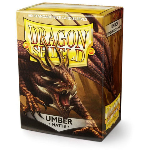 DRAGON SHIELD SLEEVES: UMBER MATTE