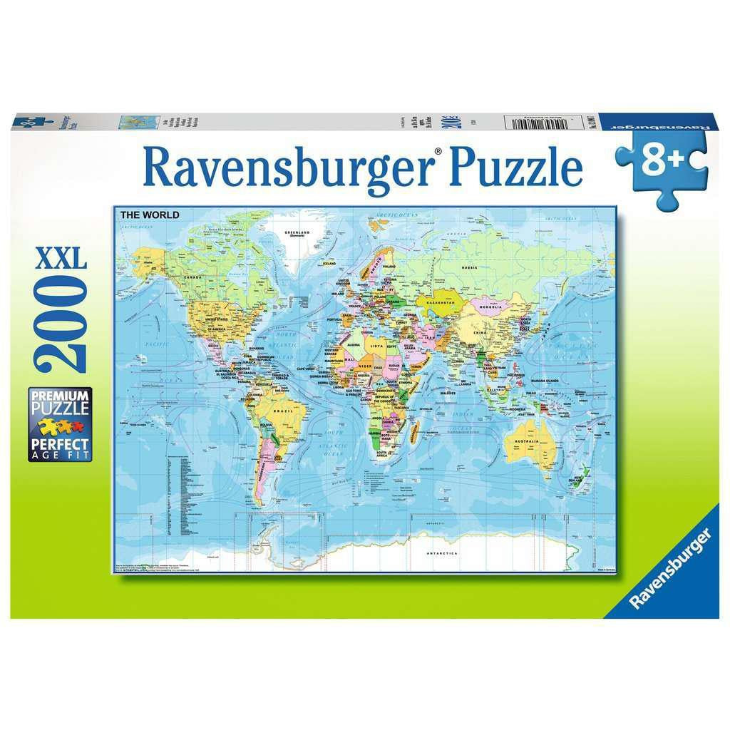 MAP OF THE WORLD 200 XXL PIECE PUZZLE