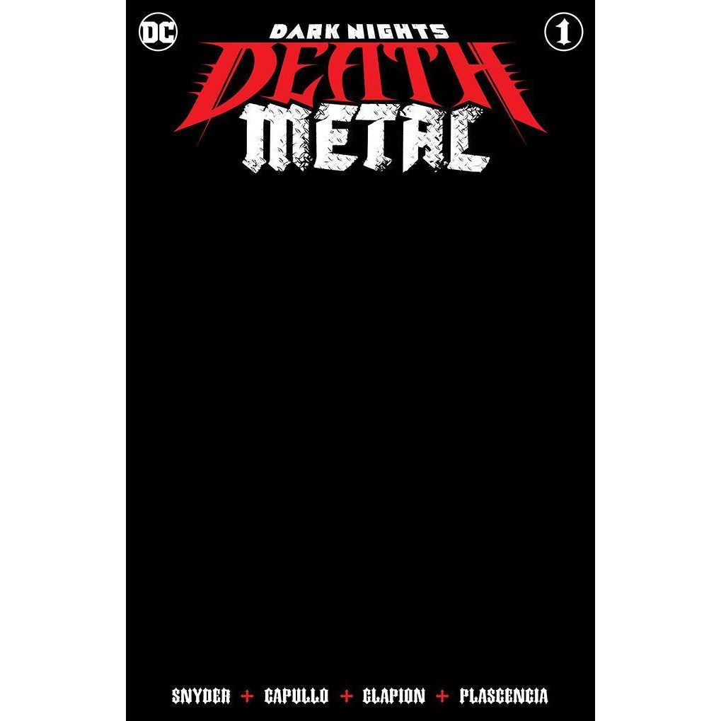 DARK NIGHTS DEATH METAL #1 - BLACK BLANK VARIANT COVER