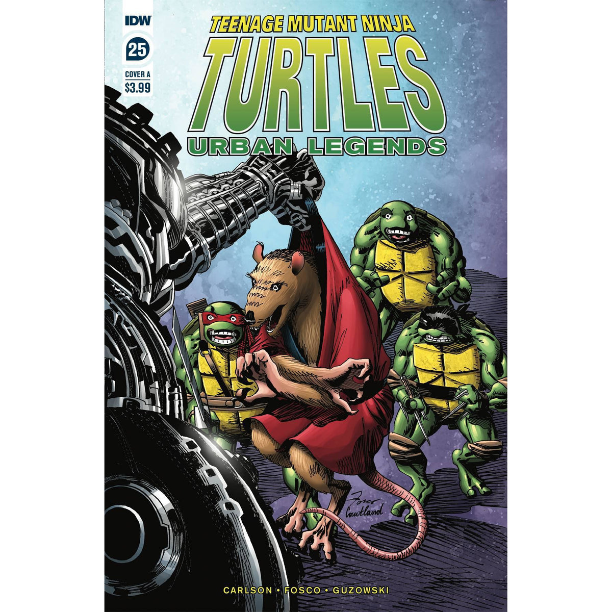 TMNT URBAN LEGENDS #25 - FOSCO COVER A