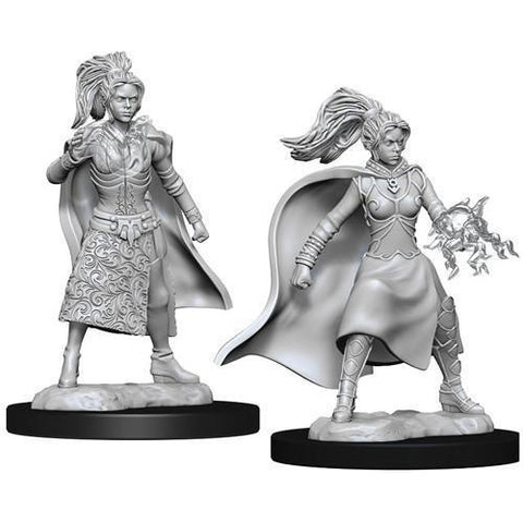 DUNGEONS & DRAGONS NOLZUR'S MARVELOUS UNPAINTED MINIATURES WAVE 10: FEMALE HUMAN SORCERER