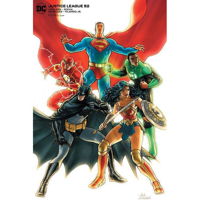 JUSTICE LEAGUE #52 - NICK DERINGTON VARIANT COVER B