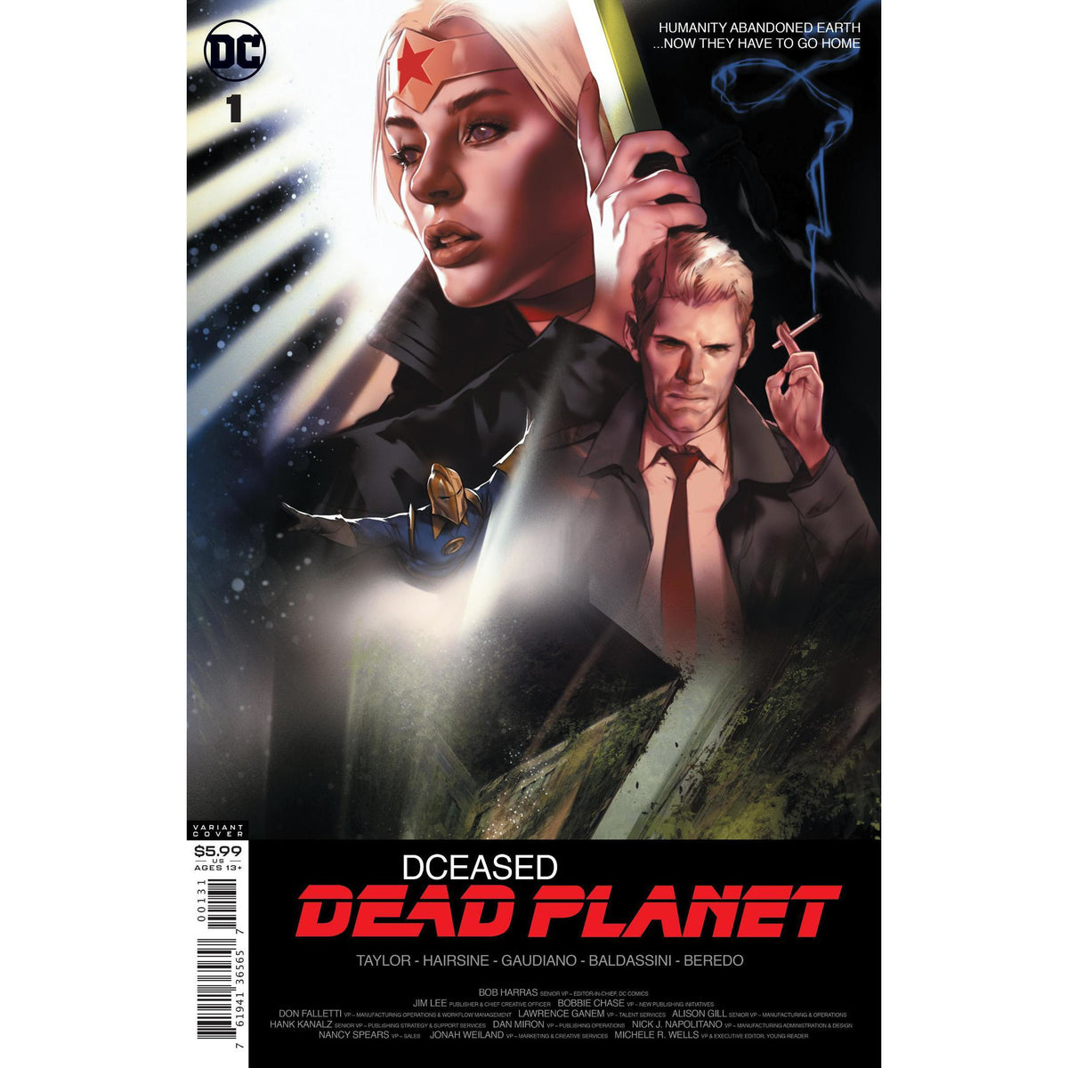 DCEASED DEAD PLANET #1 (OF 6) - CARD STOCK BEN OLIVER MOVIE VARIANT COVER C