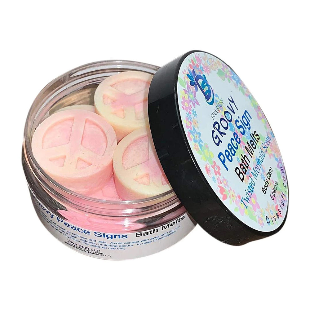 Groovy Peace Signs Skin Softening Slow Melt Bath Melts With Cocoa Butter and Shea Butter