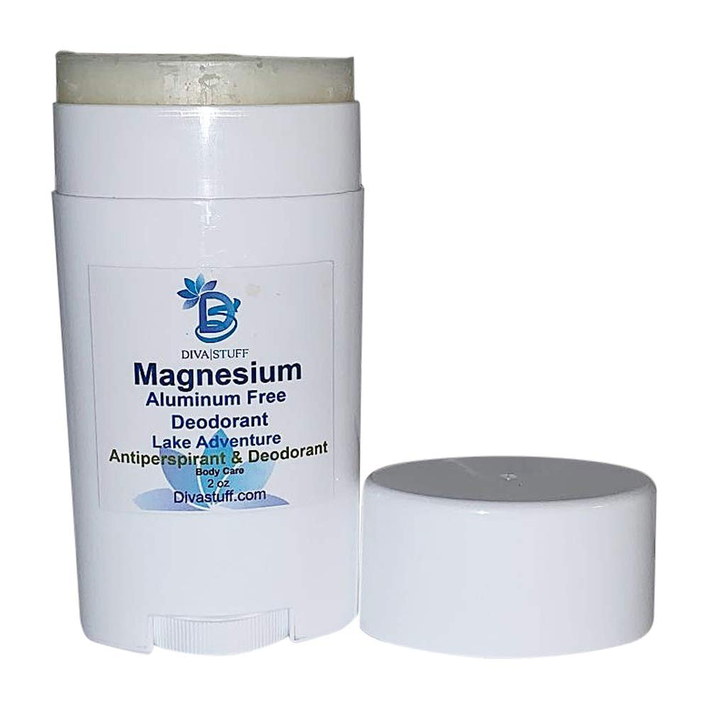 Lake Adventure Magnesium Deodorant, Aluminum Free, Cruelty Free, Baking Soda Free, With Mango Butter and Coconut Oil