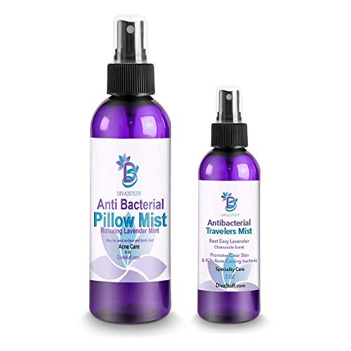Anti-Bacterial Pillow + Travelers Mist - Lavender & Chamomile Scent (Combo Pack)