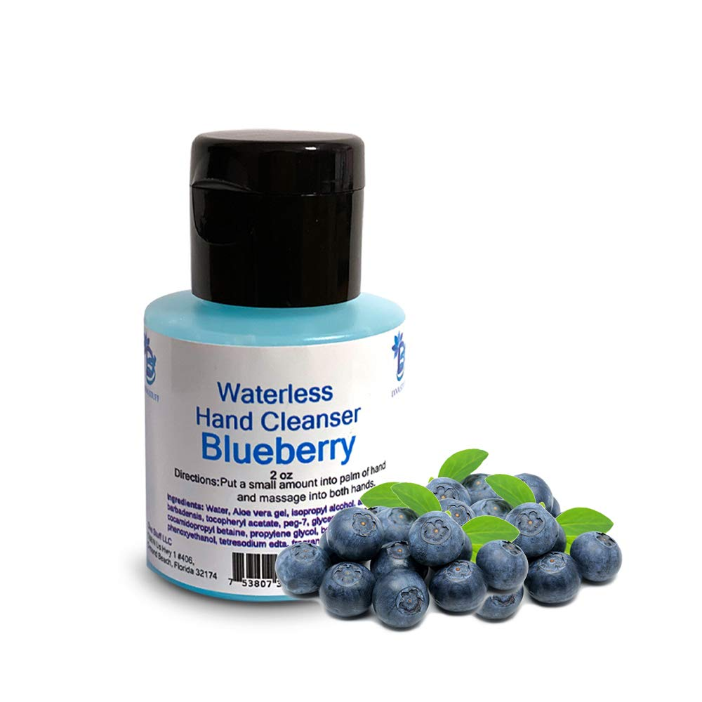 Waterless (No Water Needed for Rinsing) Hand Cleanser (Blueberry)