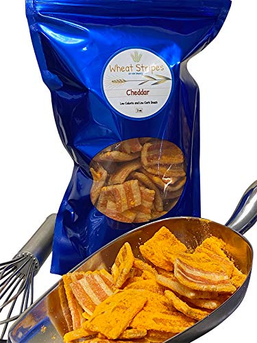 Wheat Stripes Low Calorie, Low Carb, Keto, Low Fat Gourmet Snack Chips, 3 oz - Cheddar, 1 Pack