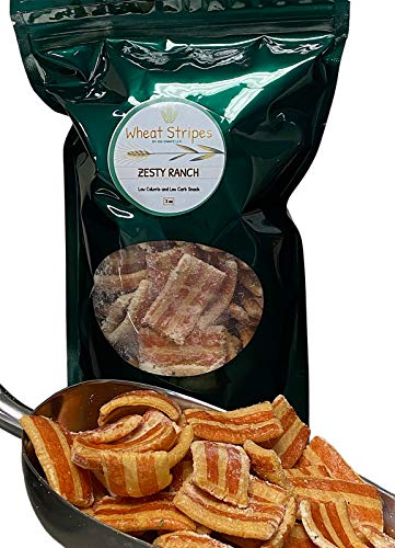 Wheat Stripes Low Calorie, Low Carb, Keto, Low Fat Gourmet Snack Chips, 3 oz - Zesty Ranch, 1 Pack