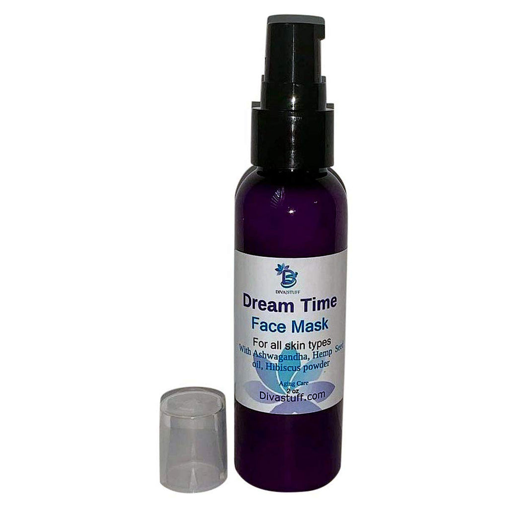 Dream Time Sleep Mask, Overnight Mask For All Skin Types, With Lavender, Ashwagandha, Hibiscus and Vitamin C