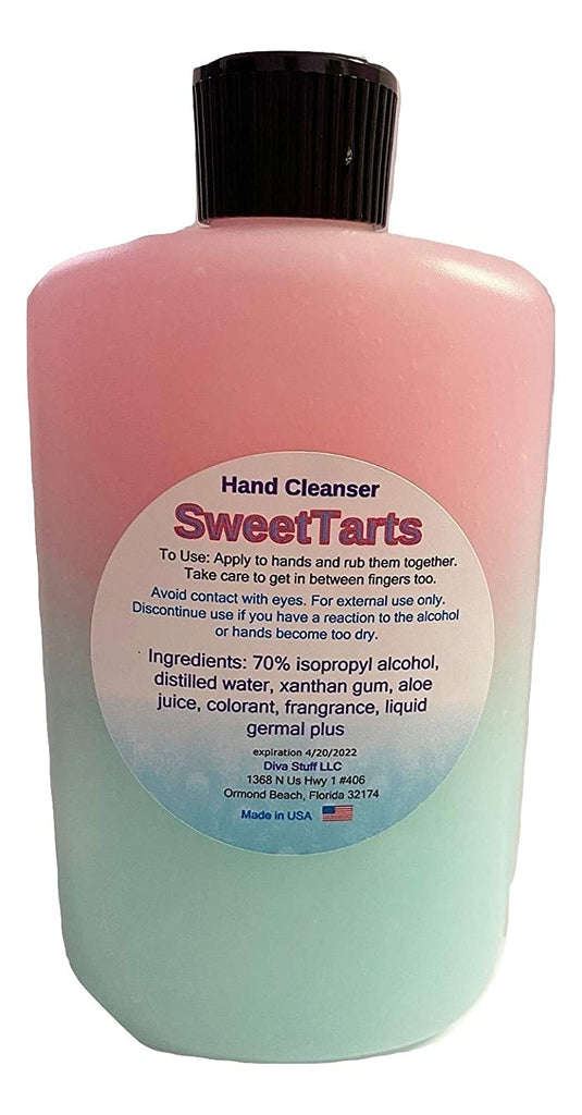 Waterless Hand Cleanser in 8 oz Bottle, Made in USA (Sweet Tarts, 1 count)