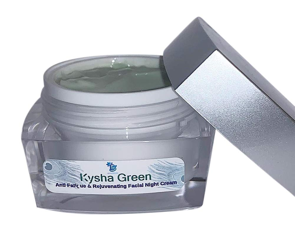 Anti Fatigue and Rejuvenating Night Cream, Kysha Green, Non Oily, Skin Smoothing, and Nutrient Rich Formula