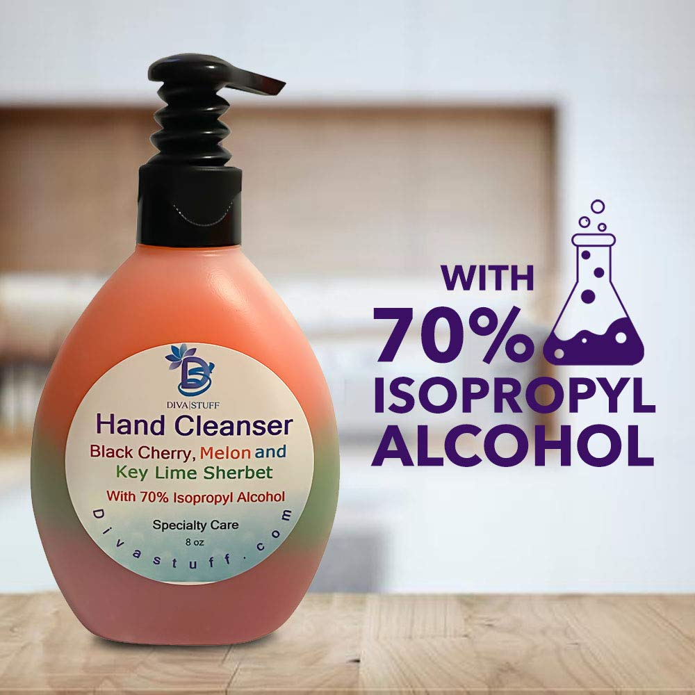 Waterless Hand Cleanser 8 Oz - Black Cherry Key Lime and Melon Sherbet (Packaging may vary)