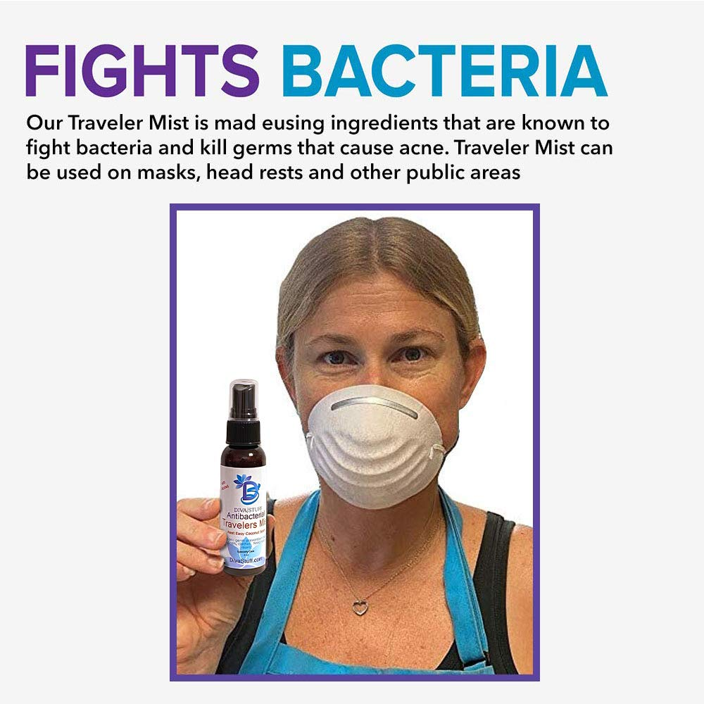Anti-Bacterial Travelers Mist with Alcohol 70% - Coconut Scent