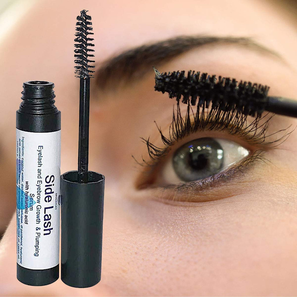 Side Lash By Diva Stuff,For Longer, Thicker, Fuller & Healthier Lashes,New Eyelash & Eyebrow Growth Serum With Hyaluronic Acid, Ginseng Extract, Jamaican Black Castor Oil, Vitamin E and Much More