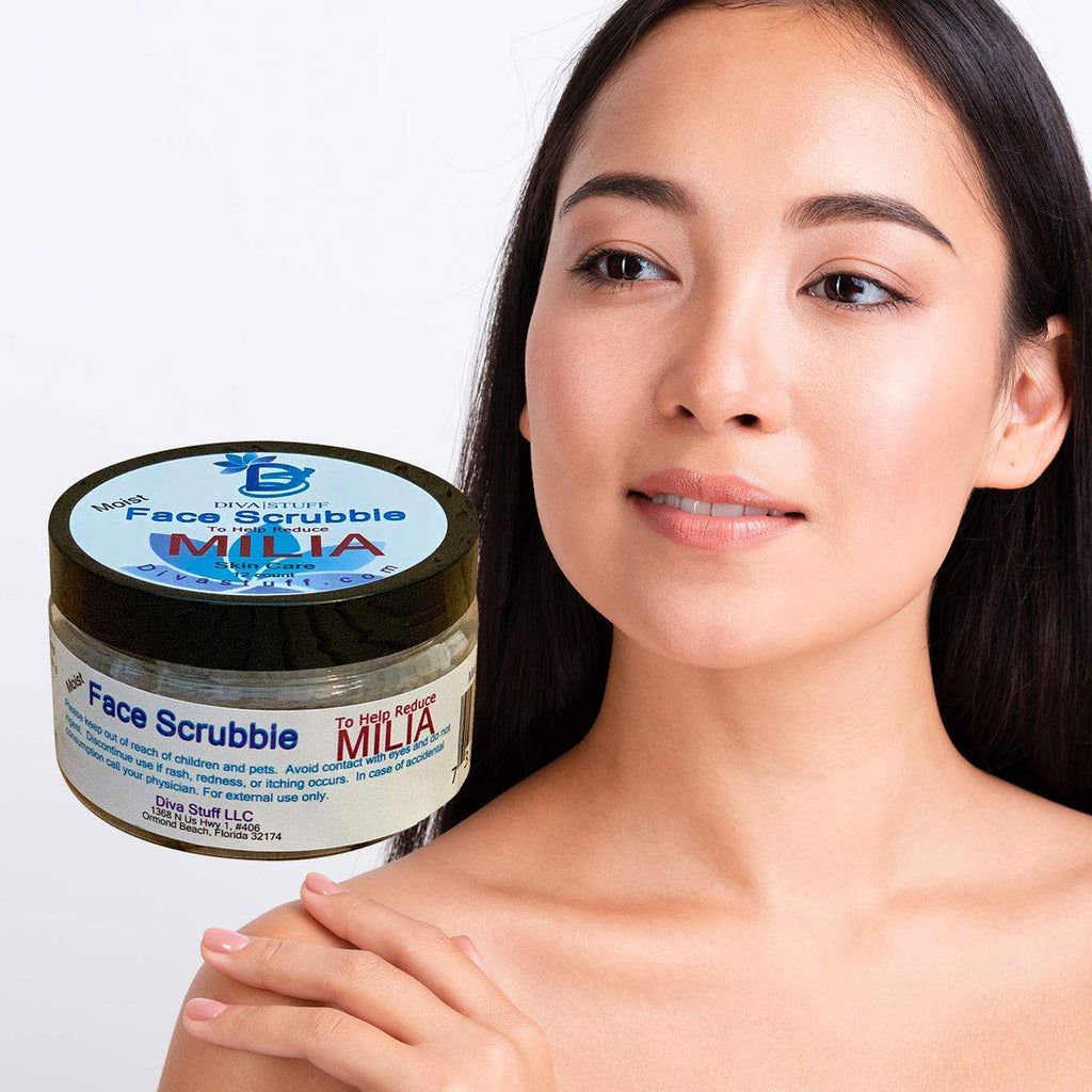 Milia Face Scrubbies,Helps Dissolve and Reduce Milia, With Salicylic Acid, Niacin, Retinol, Pumice and More