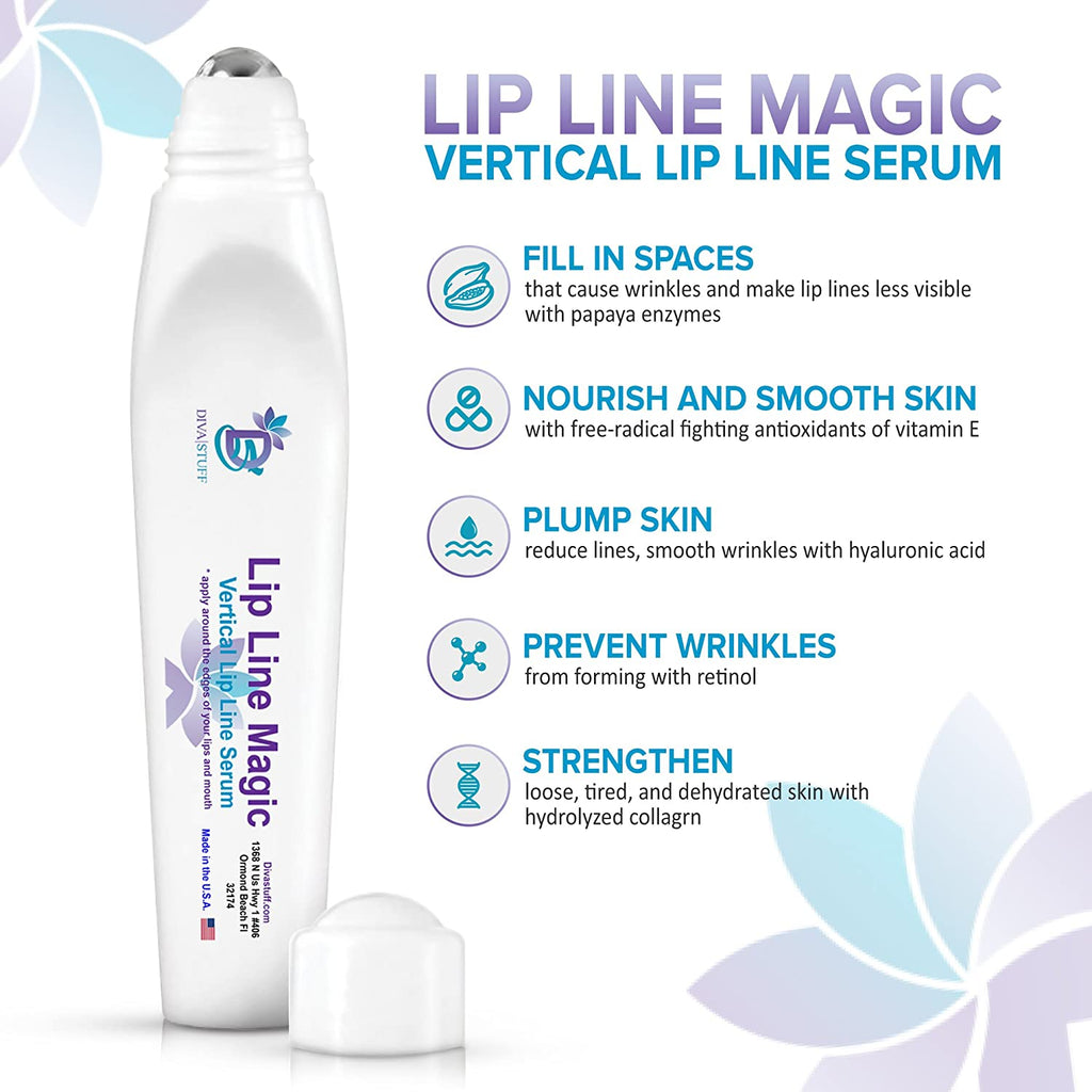 Lip Line Magic, Verticle Lip Line Repair Serum With Hyaluronic Acid, Papaya Enzymes and More