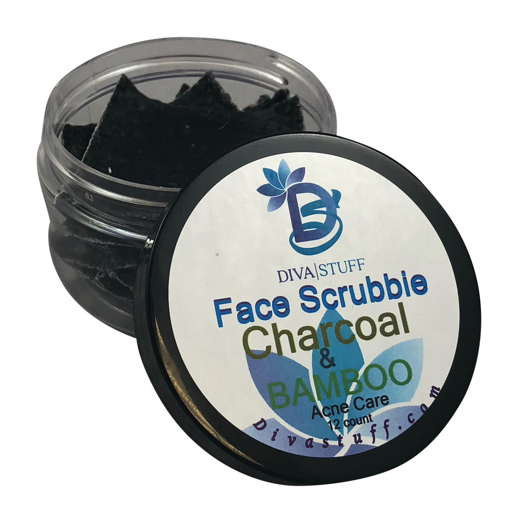 Charcoal & Bamboo Face Scrubbies For Adult Acne