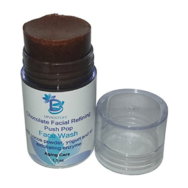Chocolate Facial Refining Push Pop Face Wash with Cocoa,Yogurt and Walnut Powders