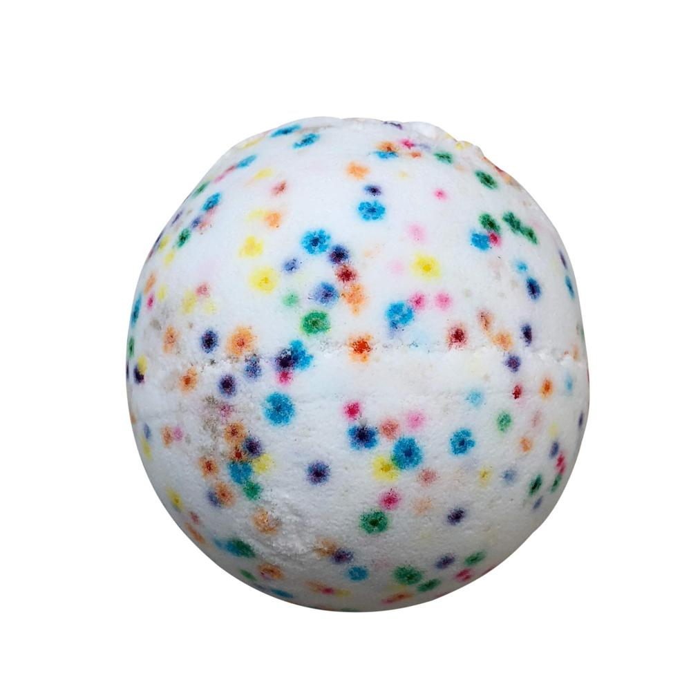 Bath Bomb with Skin Softening Ingredients-Confetti Cake