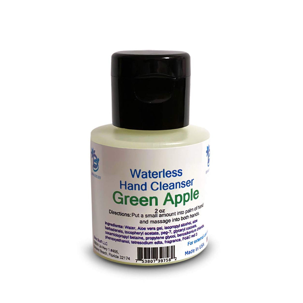 Waterless (No Water Needed for Rinsing) Hand Cleanser (Green Apple)