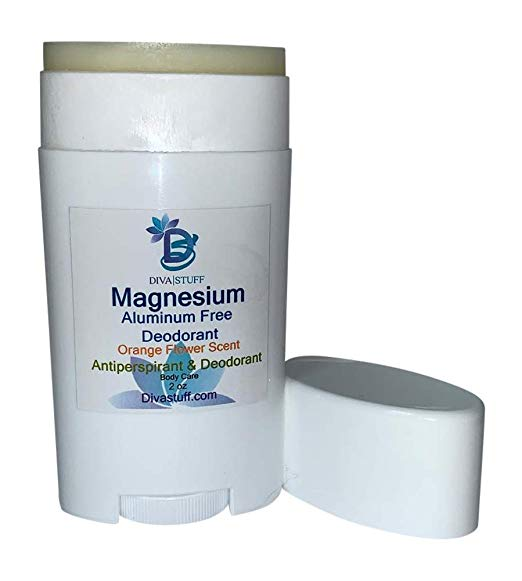 Magnesium Deodorant, Aluminum Free, Cruelty Free, Baking Soda Free, Light Orange Flower Scent By Diva Stuff
