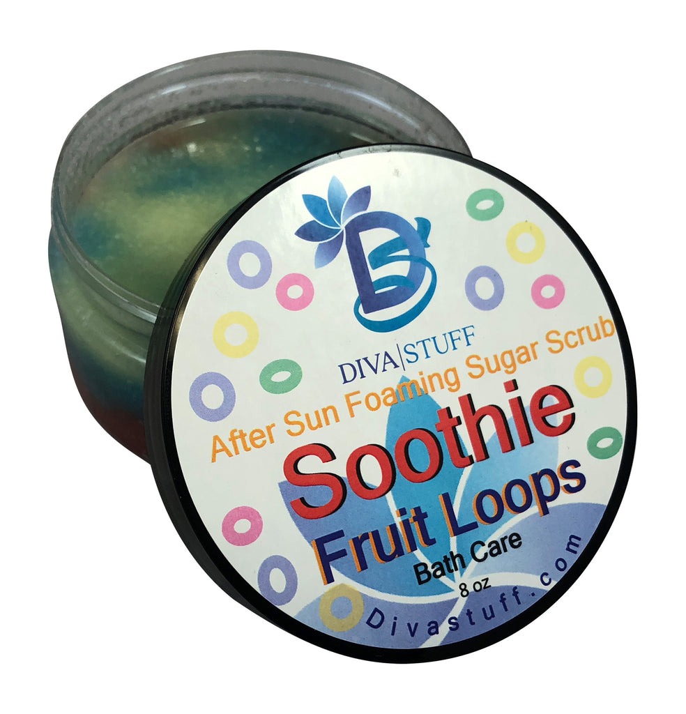 Fruit Loops Scent After Sun Foaming Sugar Scrub, 8oz Jar