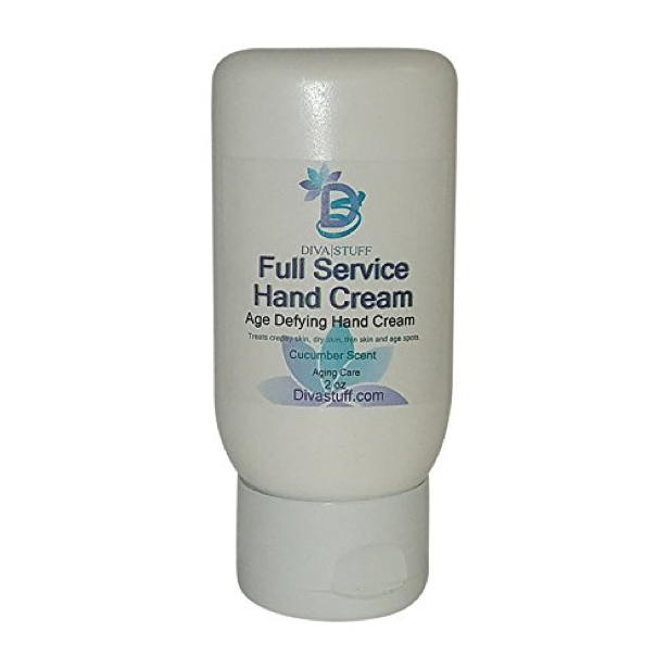 Full Service Age Defying Hand Cream, For Crepey Skin, Age Spots, Thinning Skin and Dry Skin, Cucumber Scent