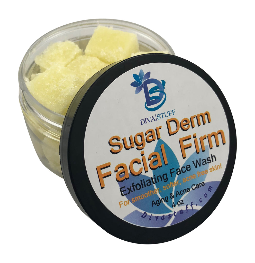 Sugar Derm Facial Firm,All Natural Face Scrub & Cleanser, 4 oz
