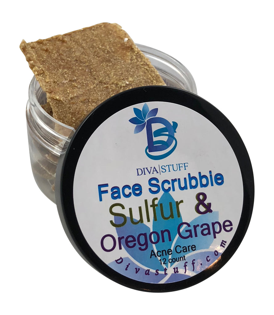 Sulfur & Oregon Grape Acne Banishing Face Scrubbies, 12 Ct
