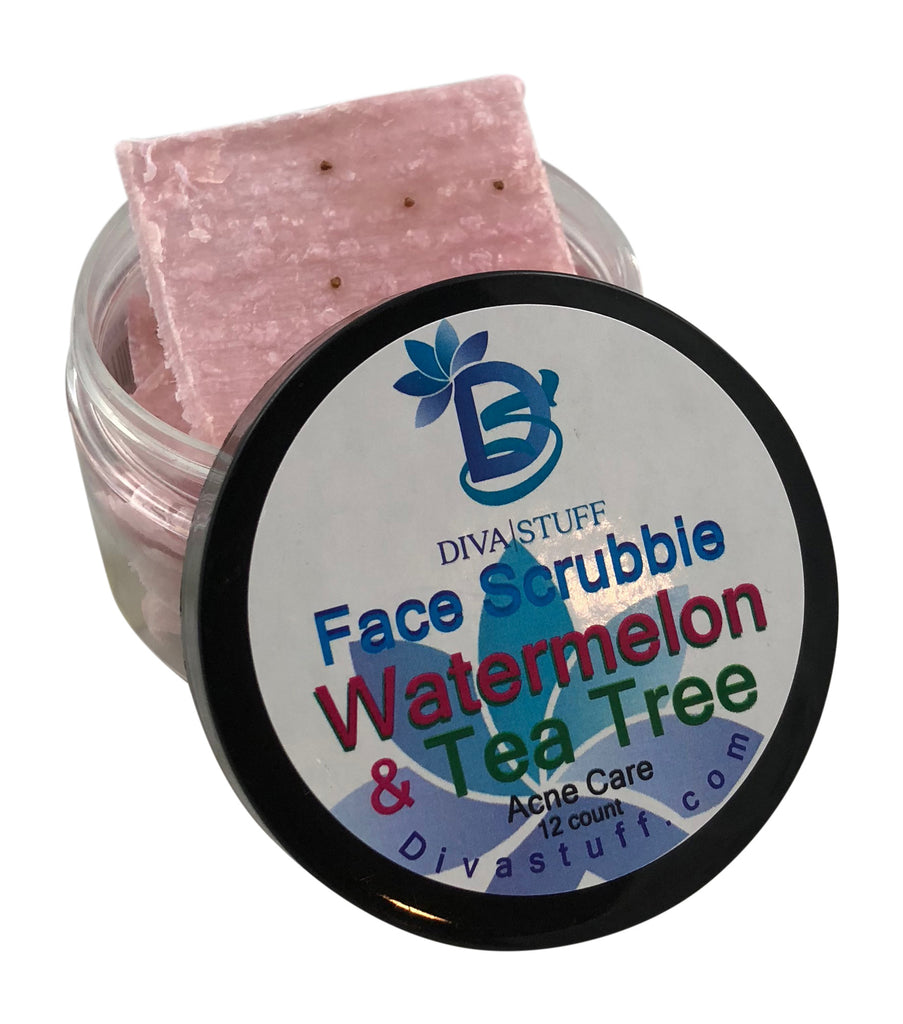 Watermelon & Tea Tree Face Scrubbies, For Oily & Acne Prone Skin