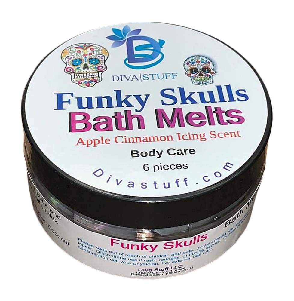 Funky Skulls Skin Softening Slow Melt Bath Melts With Cocoa Butter and Shea Butter