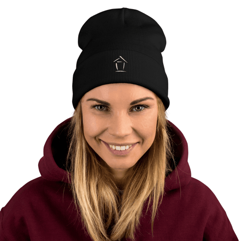 Boiz House Logo Embroidered Beanie MultiMedia.Party with Boiz House Black