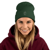 Boiz House Logo Embroidered Beanie MultiMedia.Party with Boiz House Dark green