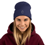 Boiz House Logo Embroidered Beanie MultiMedia.Party with Boiz House Navy