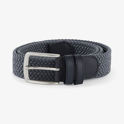 Grey elasticated braided belt