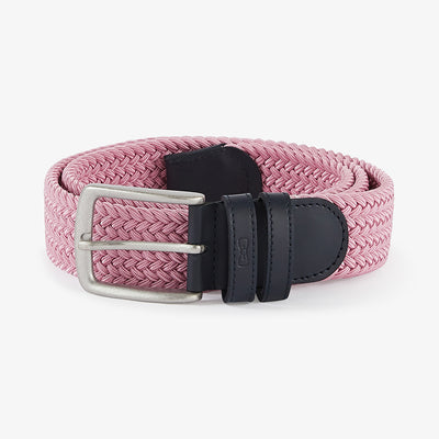 Pink elasticated braided belt