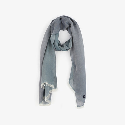 Barbarian navy blue cotton voile scarf