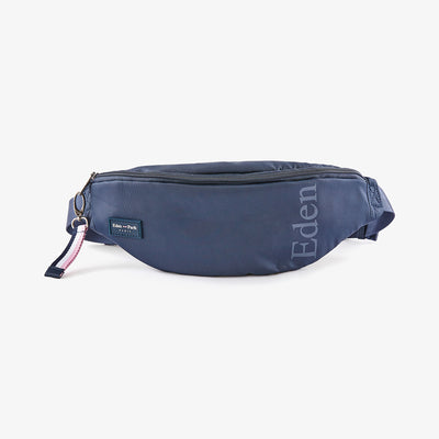 Water-resistant navy blue rubber fanny pack