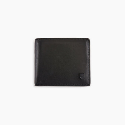 Black leather Italian wallet