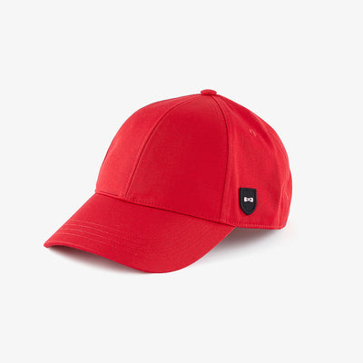 Unicolour red cotton cap